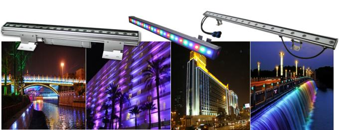 Watt 110VAC RGB LED Wall Washer Full Color Outdoor Wall Wash