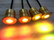 Super Bright 3w Mini LED Underwater Pond Lights With Brass Housing