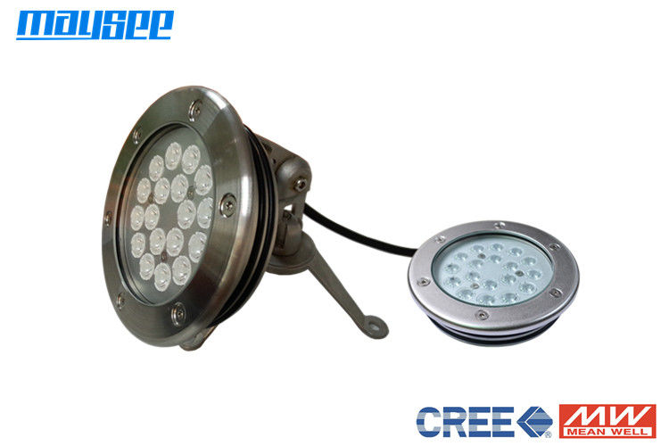 High Power RGB LED Pool Light IP68 , 54W LED Swimming Pool Lights , 316L stainless steel,